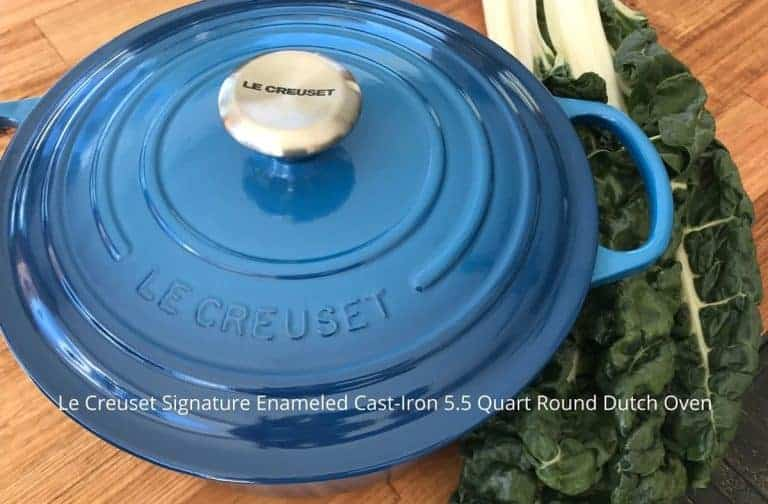 Le Creuset Signature Enameled Cast-Iron 5.5 Quart Round Dutch Oven