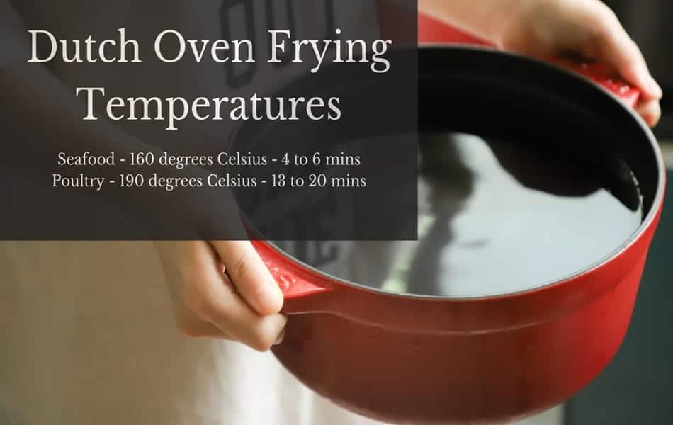 Can you fry in a Dutch Oven - Dutch oven frying temperatures