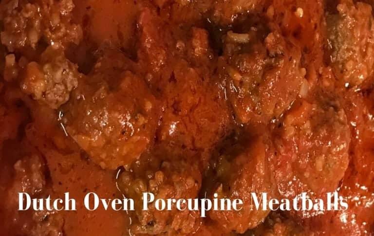 Dutch Oven Porcupine Meatballs in 1 Hour