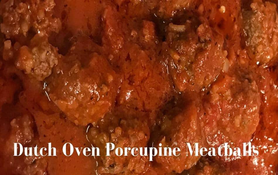 Dutch Oven Porcupine Meatballs