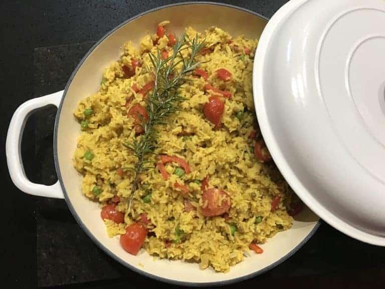 Zesty Turmeric Lentil Rice (One-Pot)