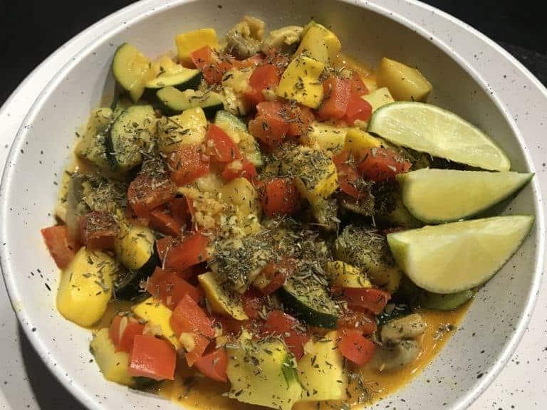 Vegan Squash Zucchini Mushroom Saute' – Dutch Oven Style