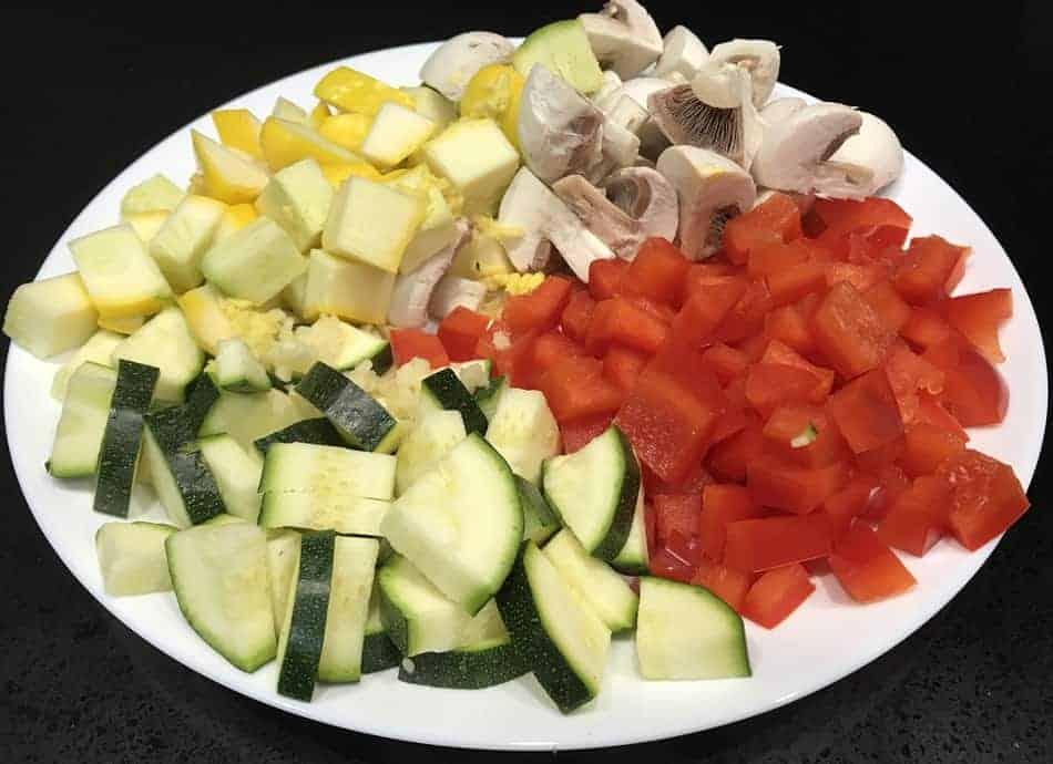 Vegan Squash Zucchini Mushroom Saute' - Ingredient Image