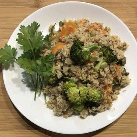 Semolina with Carrot Broccoli Mushroom Recipe Image