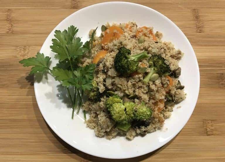 Semolina Carrot Broccoli Mushroom (Vegan)