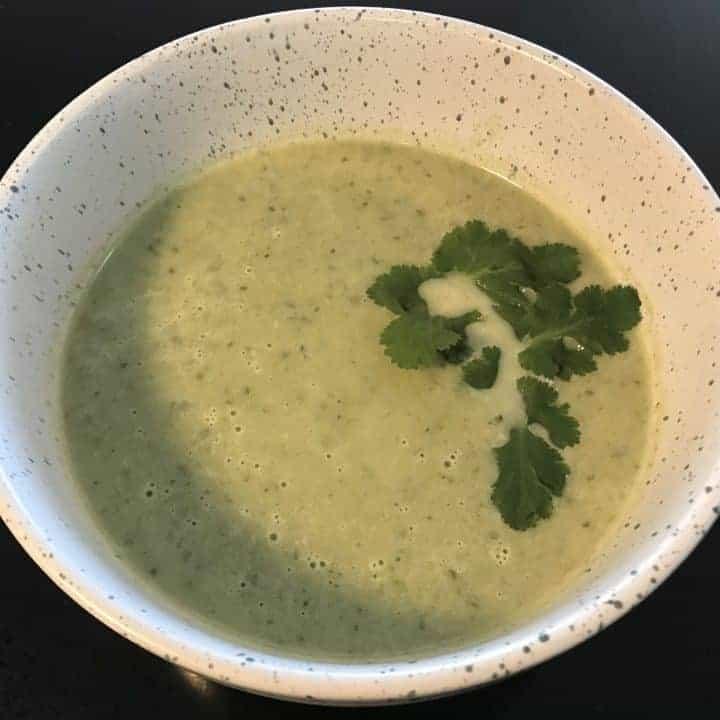 vegan creamy green soup dutch oven