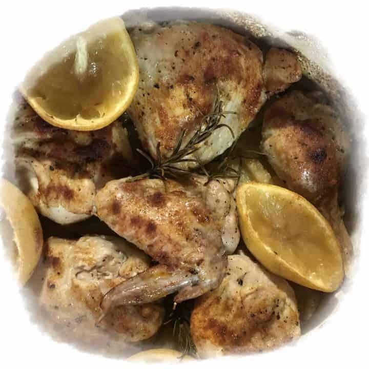 Lemon and Chicken Dutch Oven