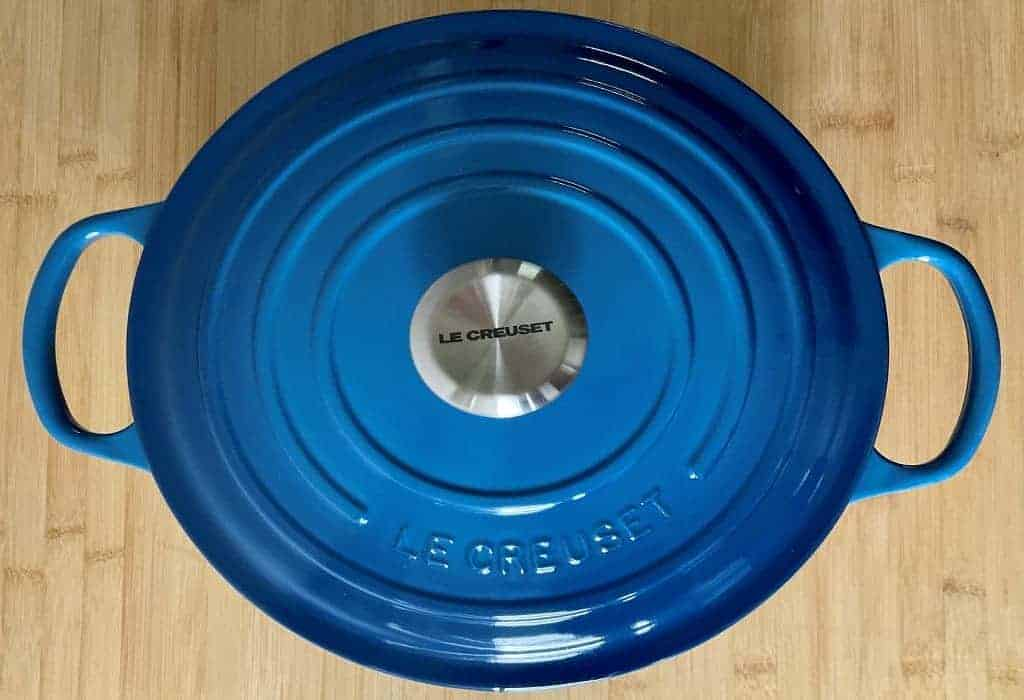 How to tell if a Le Creuset is fake - dutch oven marseille blue